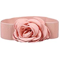 Nanxson(TM) Women Fashion Wide Elastic Waist Belt with Decorative Flower Buckle PDW0075