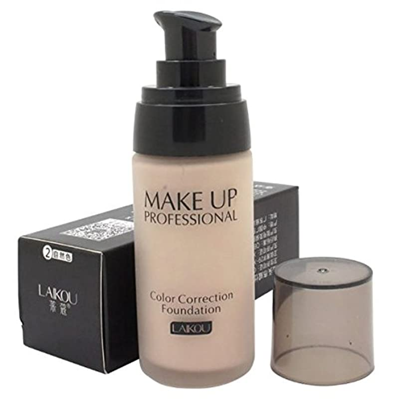 前提透明にストロー40 ml Whitening Liquid Foundation Concealer Moisturizer Oil-control Waterproof Makeup NO.2