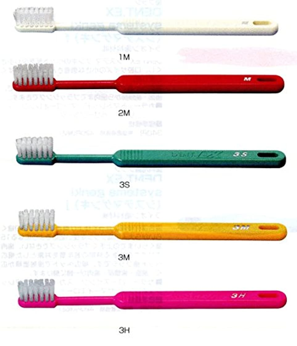 まっすぐ昼食ゆりライオン DENT .EX 3 レギュラー 歯ブラシ 1本 M イエロー