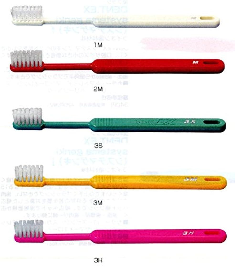 不安定な電気複雑なライオン DENT .EX 3 レギュラー 歯ブラシ 1本 M イエロー