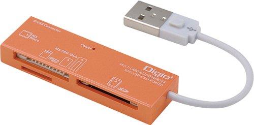 Digio2 マルチカードリーダー/ライター 40メディア対応 オレンジ CRW-5M52NDD