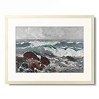 Karl Hagemeister 「The Wave. 1911」 額装アート作品