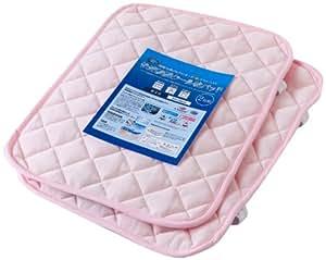 接触冷感ひんやりタッチプラス アウトラスト(NASA使用素材)快適快眠クール枕パッド(ナイスクール素材使用) 同色2枚組 ライトピンク 44060091