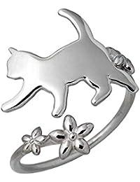 Blue Cat ブルーキャット シルバー 猫 リング ネコ 指輪9~15号 SRV485-1359