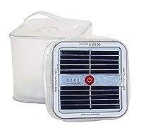 リタプロショップⓇ 折りたたみ式 キューブ型 ソーラー LED ランタン 簡易防水 アウトドア キャンプ ソーラーライト