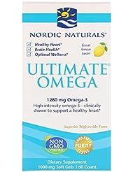 Nordic Naturals 究極のオメガ レモン 1280 mg 60ソフトゼリー 【アメリカ直送】