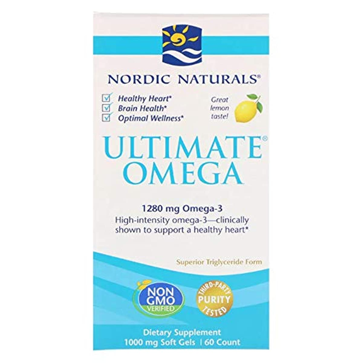 宇宙船救援強度Nordic Naturals 究極のオメガ レモン 1280 mg 60ソフトゼリー 【アメリカ直送】