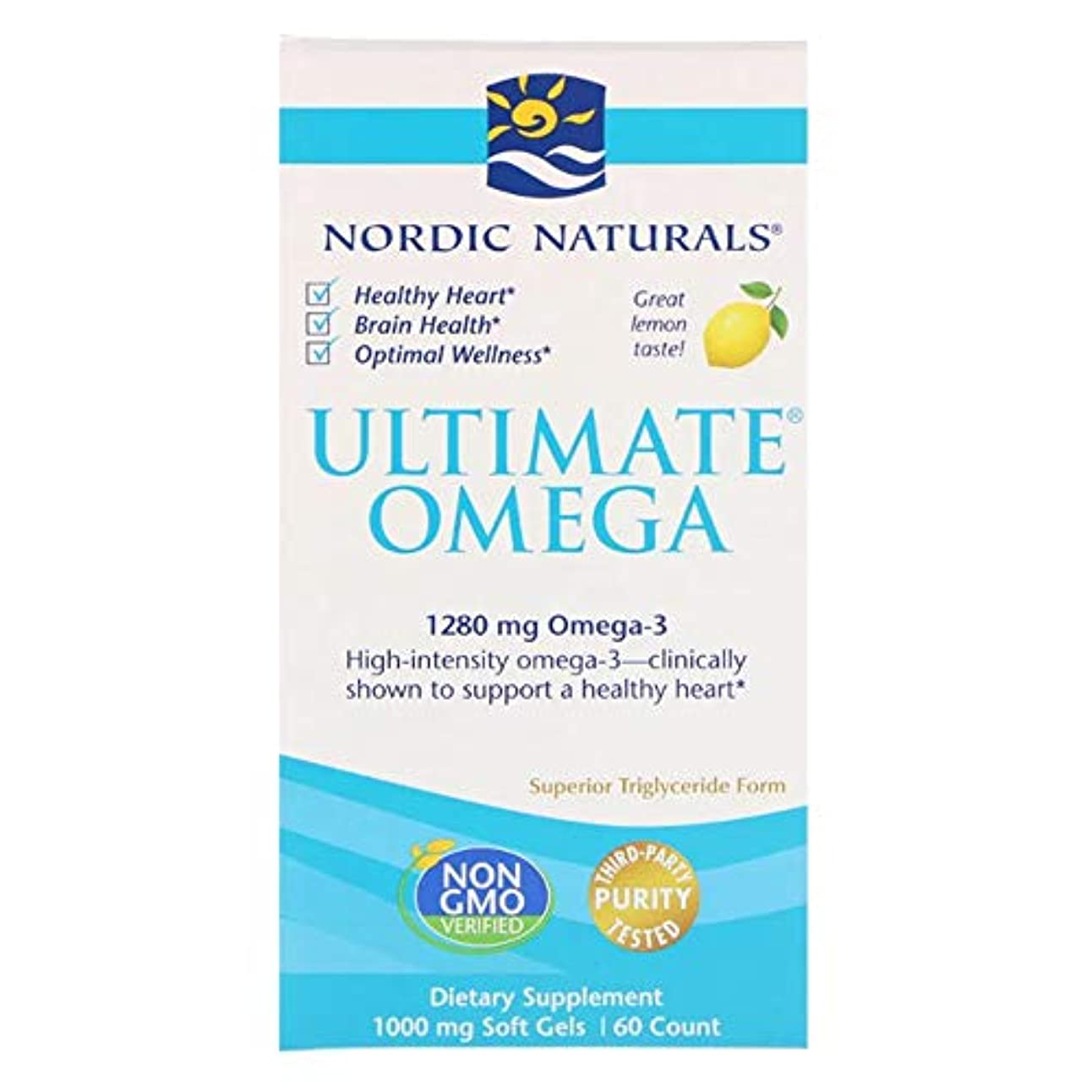 私たち基礎うなり声Nordic Naturals 究極のオメガ レモン 1280 mg 60ソフトゼリー 【アメリカ直送】