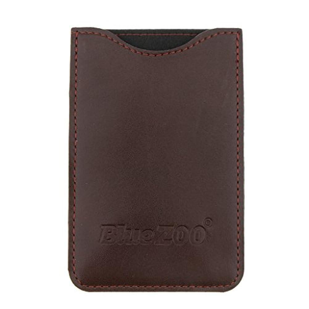 弱いめんどり鳴り響くKesoto コームバッグ 収納ケース 収納パック 保護カバー PUレザー 櫛/ヘアブラシ/名刺/IDカード/銀行カード バッグ オーガナイザー 全2色  - 褐色