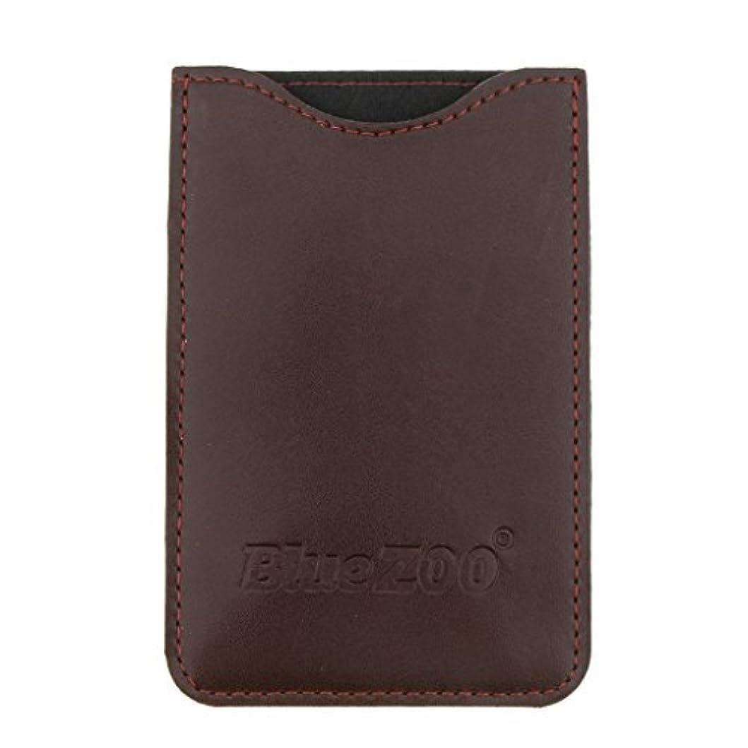断言する隠検出コームバッグ 収納ケース 収納パック PUレザー ポケット 柔らかい 全2色 - 褐色