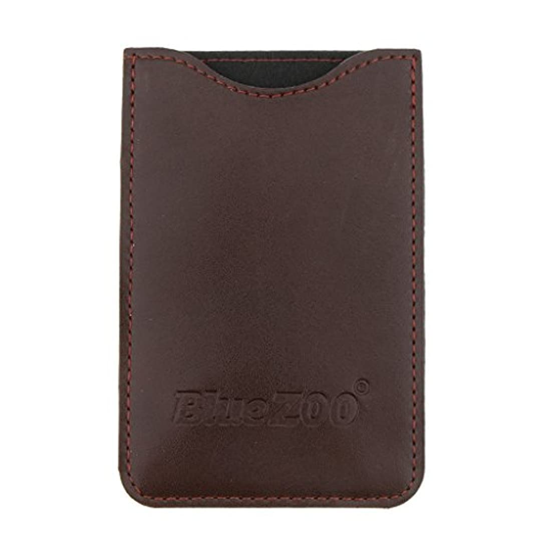 一部爆発するマインドKesoto コームバッグ 収納ケース 収納パック 保護カバー PUレザー 櫛/ヘアブラシ/名刺/IDカード/銀行カード バッグ オーガナイザー 全2色  - 褐色