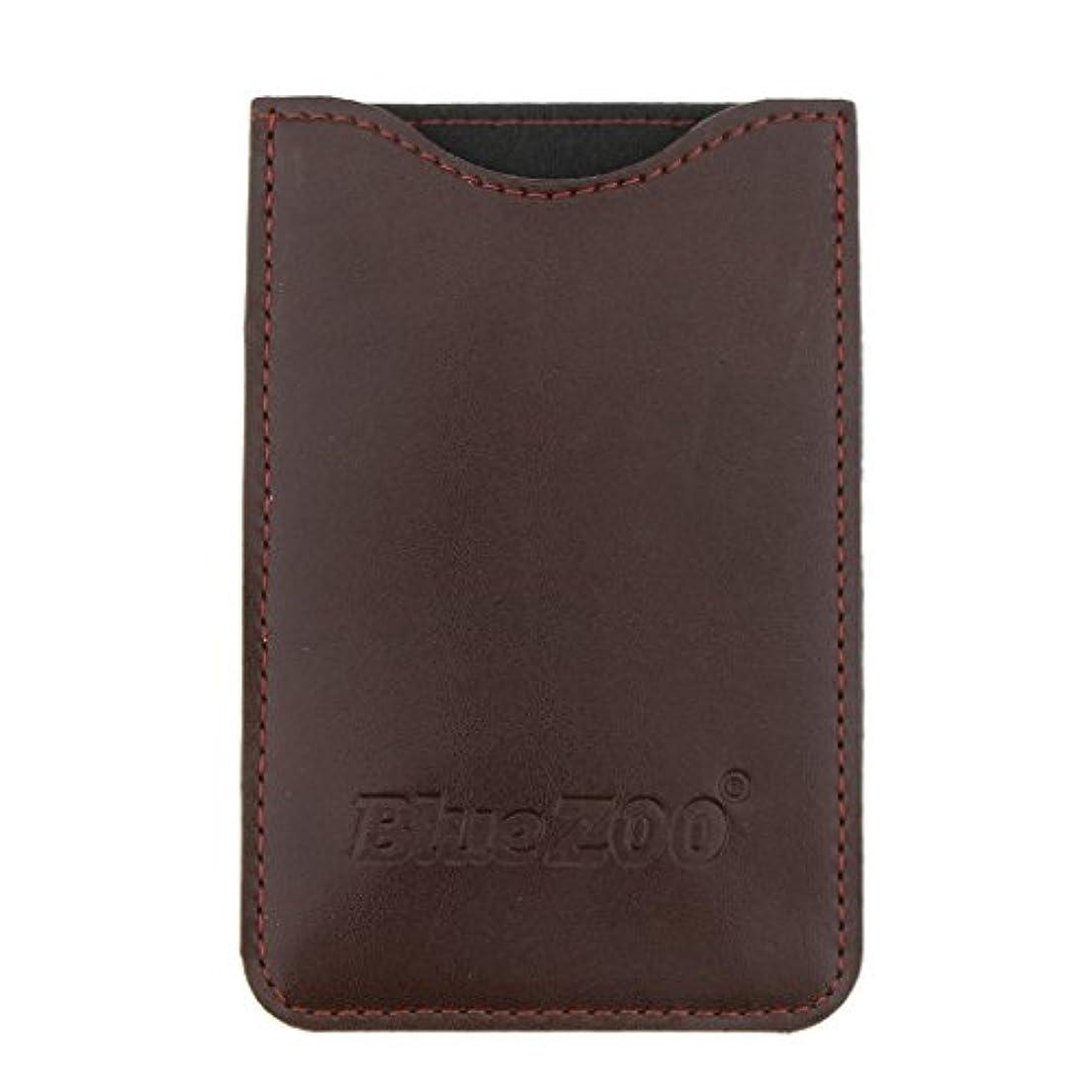 サービス新聞物語SM SunniMix コームバッグ 収納ケース 収納パック PUレザー ポケット 柔らかい 全2色 - 褐色