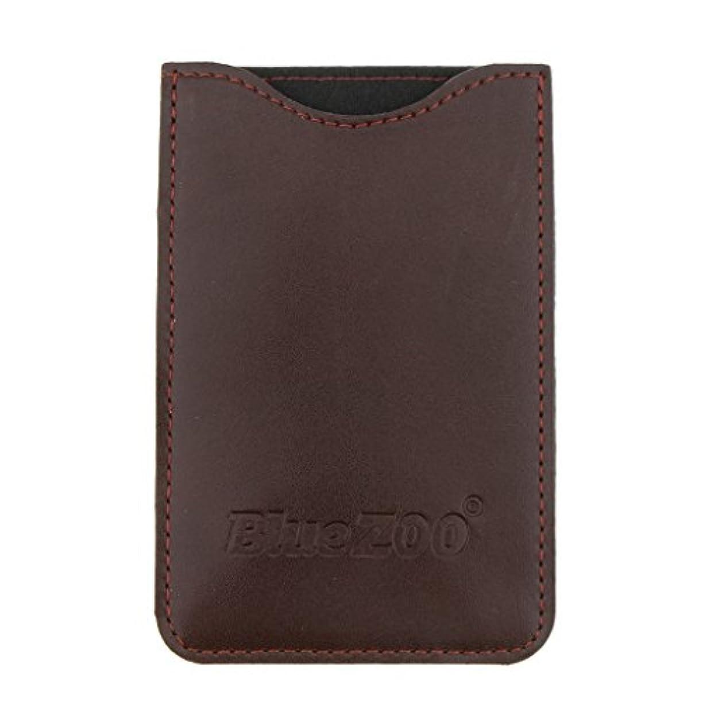 有毒な母音フィットネスコームバッグ 収納ケース 収納パック PUレザー ポケット 柔らかい 全2色 - 褐色