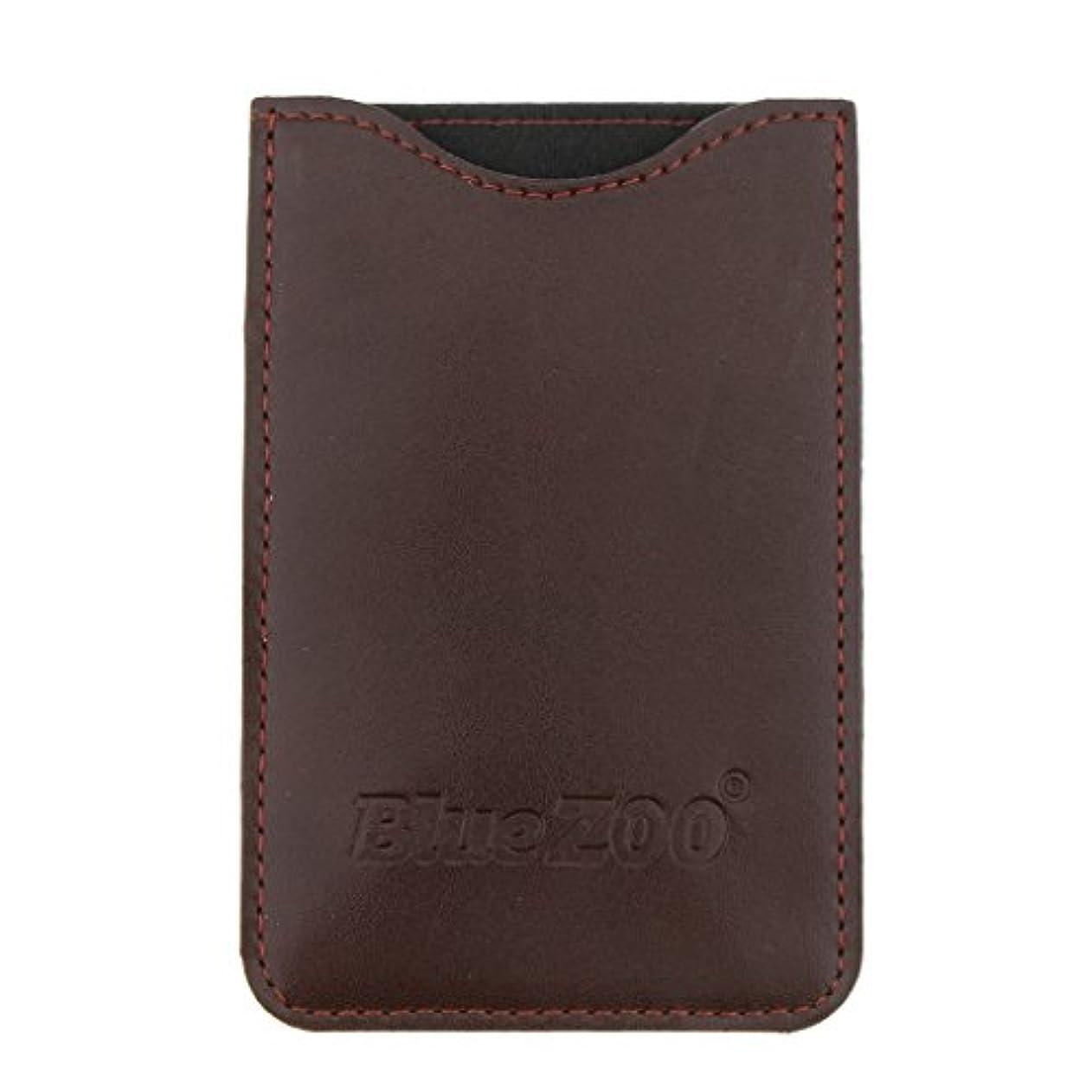 決して船外印象派Kesoto コームバッグ 収納ケース 収納パック 保護カバー PUレザー 櫛/ヘアブラシ/名刺/IDカード/銀行カード バッグ オーガナイザー 全2色  - 褐色