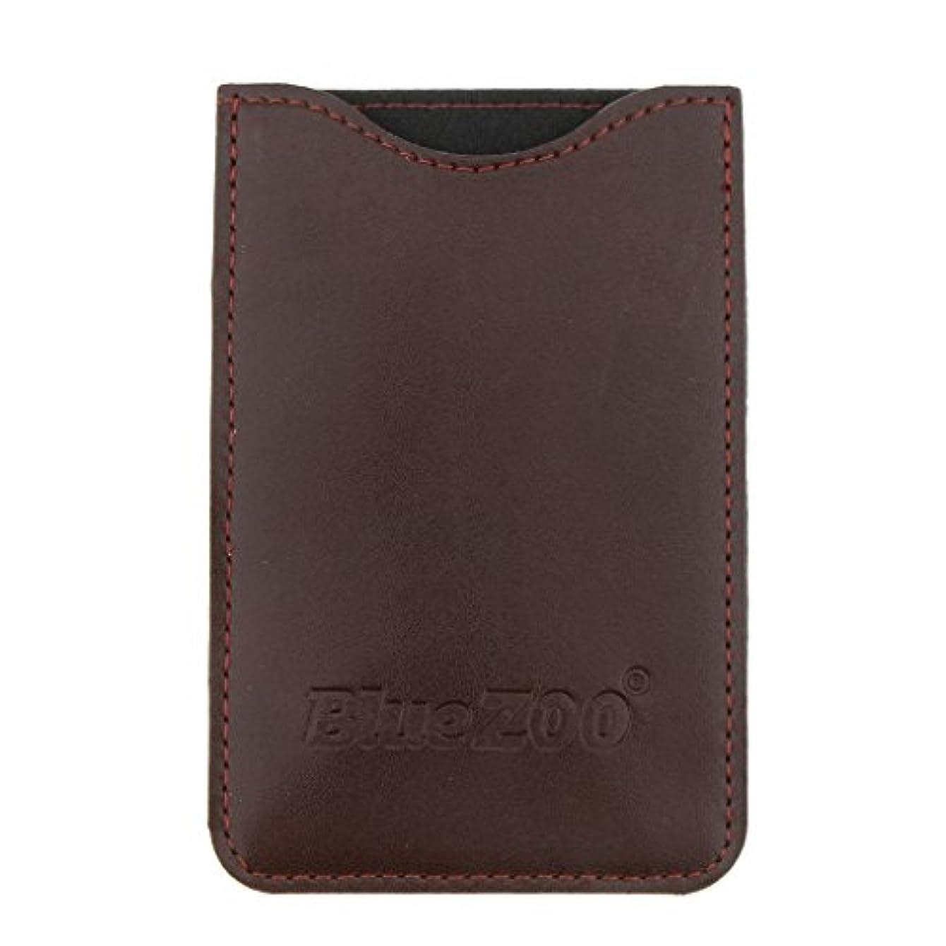 良心的経験ファブリックKesoto コームバッグ 収納ケース 収納パック 保護カバー PUレザー 櫛/ヘアブラシ/名刺/IDカード/銀行カード バッグ オーガナイザー 全2色  - 褐色