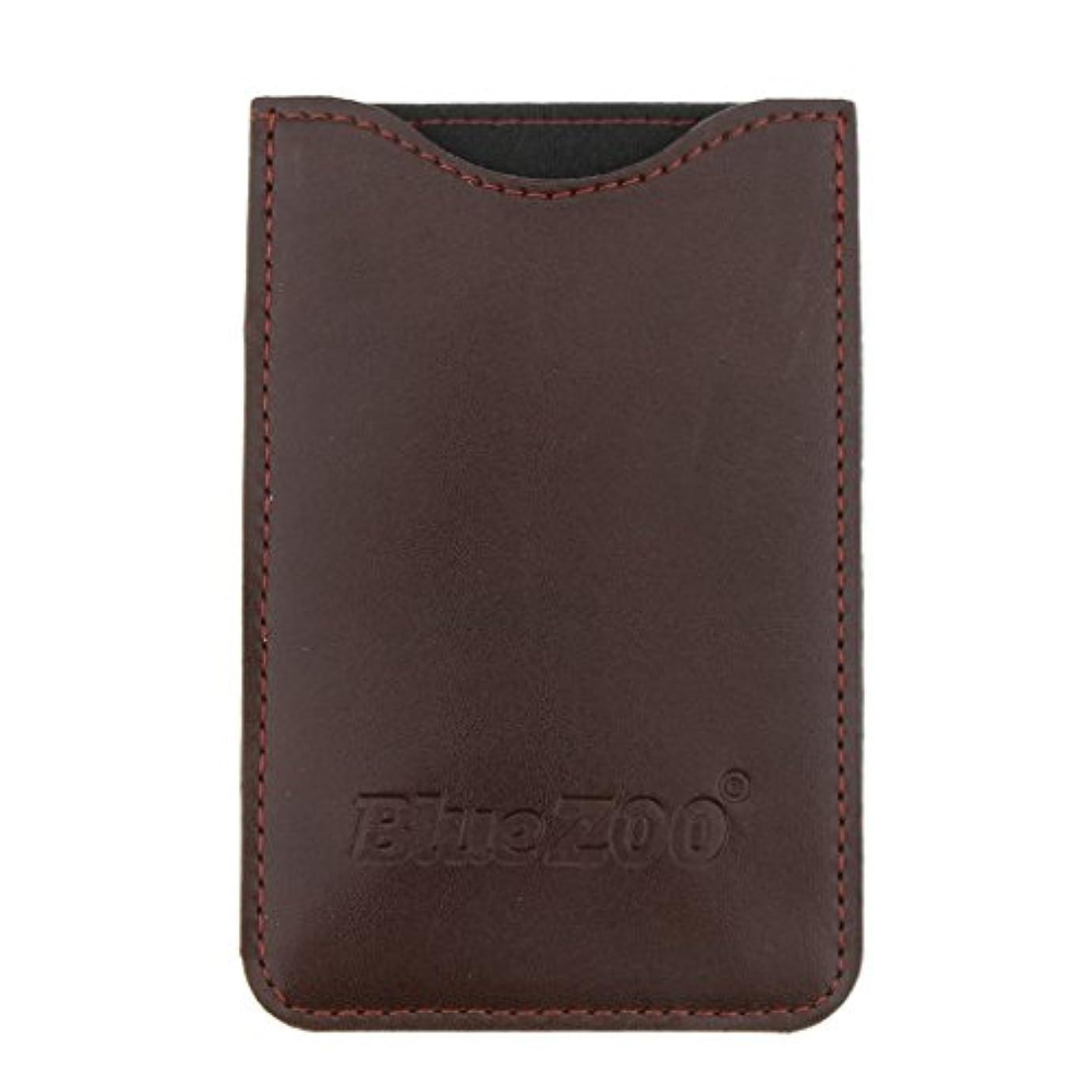 SM SunniMix コームバッグ 収納ケース 収納パック PUレザー ポケット 柔らかい 全2色 - 褐色