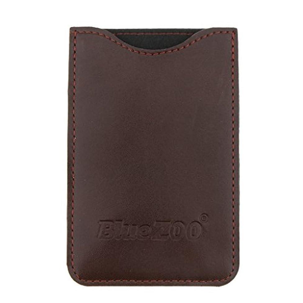 日記疑問に思う時計コームバッグ 収納ケース 収納パック 保護カバー PUレザー 櫛/ヘアブラシ/名刺/IDカード/銀行カード バッグ オーガナイザー 全2色 - 褐色