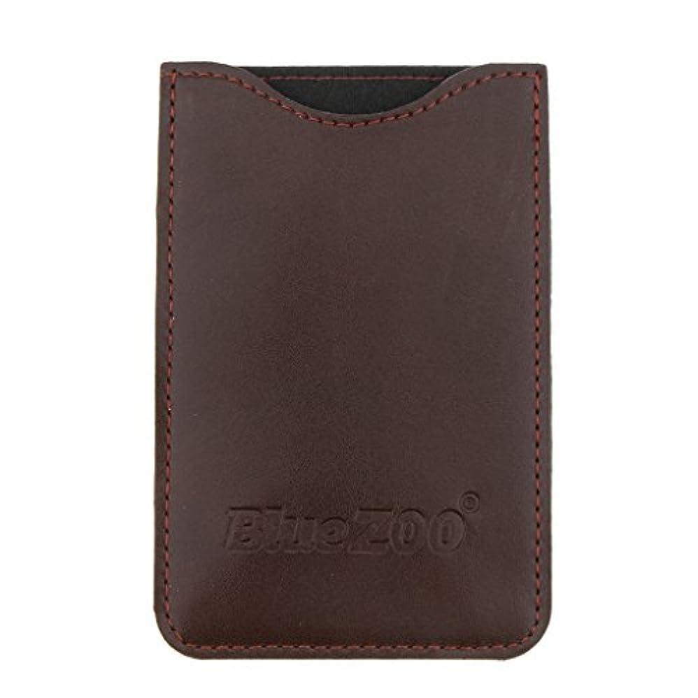 勧告を除く簡単にKesoto コームバッグ 収納ケース 収納パック 保護カバー PUレザー 櫛/ヘアブラシ/名刺/IDカード/銀行カード バッグ オーガナイザー 全2色  - 褐色