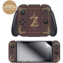 """Controller Gear Nintendo Switch Skin & Screen Protector Set, Officially Licensed By Nintendo - The Legend of Zelda: Breath of the Wild: """"Sheikah Slate"""" - Joy-Con Only - Nintendo Switch"""