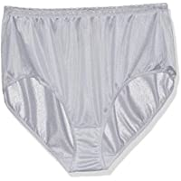 Just My Size Womens 0601P5 5-Pack Nylon Brief Panties Briefs - Multi