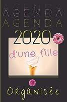 Agenda 2020 d'une fille organisée: agenda semainier & journalier | aperçu mensuel - prise de notes confortable - semaine en double page - création originale - format 15x23 cm - 140 pages