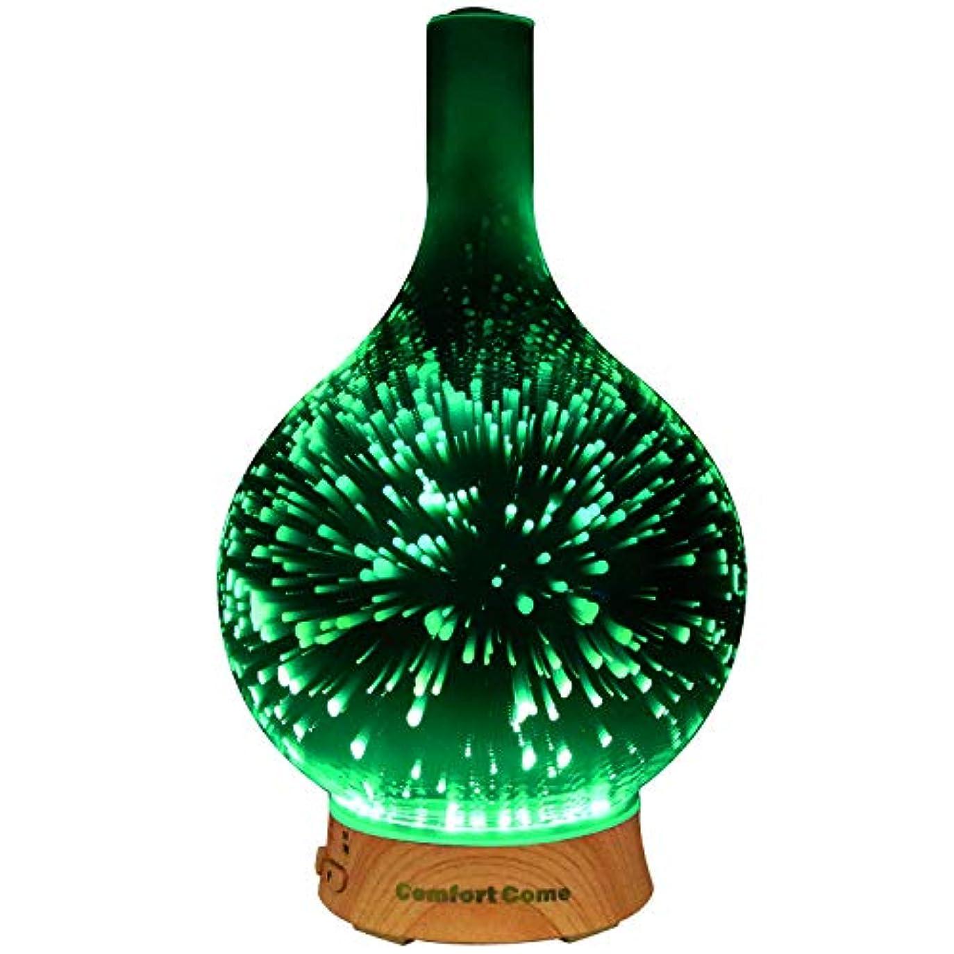 連続した使役復讐ComfortCome 100ml 3D Aromatherapy Essential Oil Diffuser, Cool Mist Humidifier with Changing Starburst LED lights...