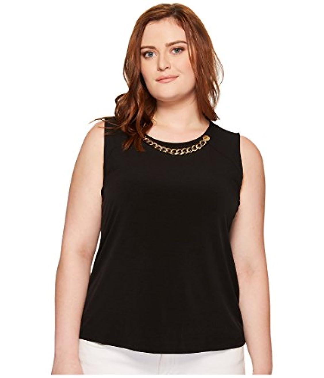 ハシー南アメリカフレア[カルバンクライン] Calvin Klein Plus レディース Plus Size Sleeveless Top with Rivet & Chain トップス [並行輸入品]