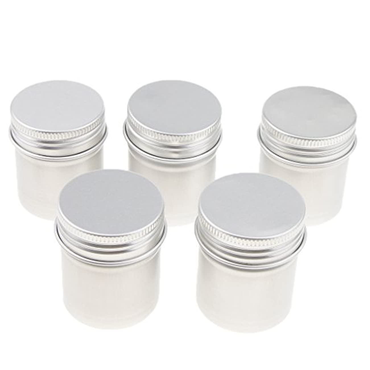 病んでいる領収書チャネルB Blesiya 5個 アルミ缶 ポット ジャー スクリュー蓋 コスメ 化粧品 DIY 手作り 詰替え容器 便利