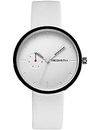 Watcher 腕時計 ガールズ 通勤 安い アナログ ホワイト 時計 シンプル 革白