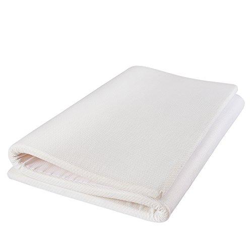 MyeFoam 新世代健康マットレス ダブル 高反発 三つ折り 寝返りサポート 体圧分散 快適睡眠 腰楽 底付なし 140x200x3cm コンパクトに畳んで収納できる 持ち運び便利 通気性抜群 防ダニ 抗菌 おりたたみ 洗える 高密度30D 硬め200N