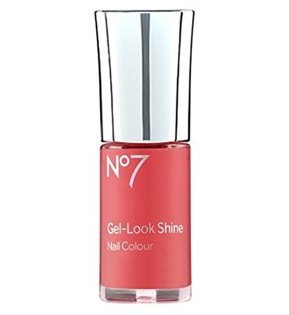 渦小数洞察力[No7] No7ゲル見た目の輝きサンゴクラッシュ10ミリリットル - No7 Gel Look Shine Coral Crush 10ml [並行輸入品]