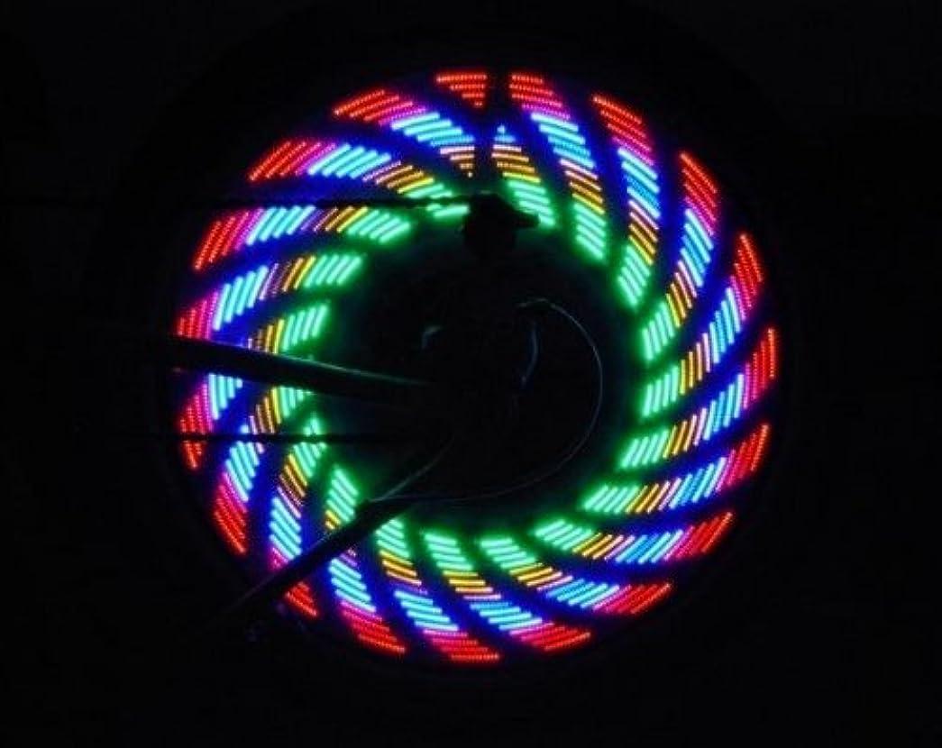 きらきらハシーアソシエイトCycling Wheel Spoke Waterproof 16 LED Alarm Lamp Bike Accessories Light Safety Bicycle Bright Lights Battey With 32 Kinds Change by Generic