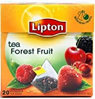 Lipton Black Tea - Forest Fruit - Premium Pyramid Tea Bags (20 Count Box) [PACK OF 3] by Lipton