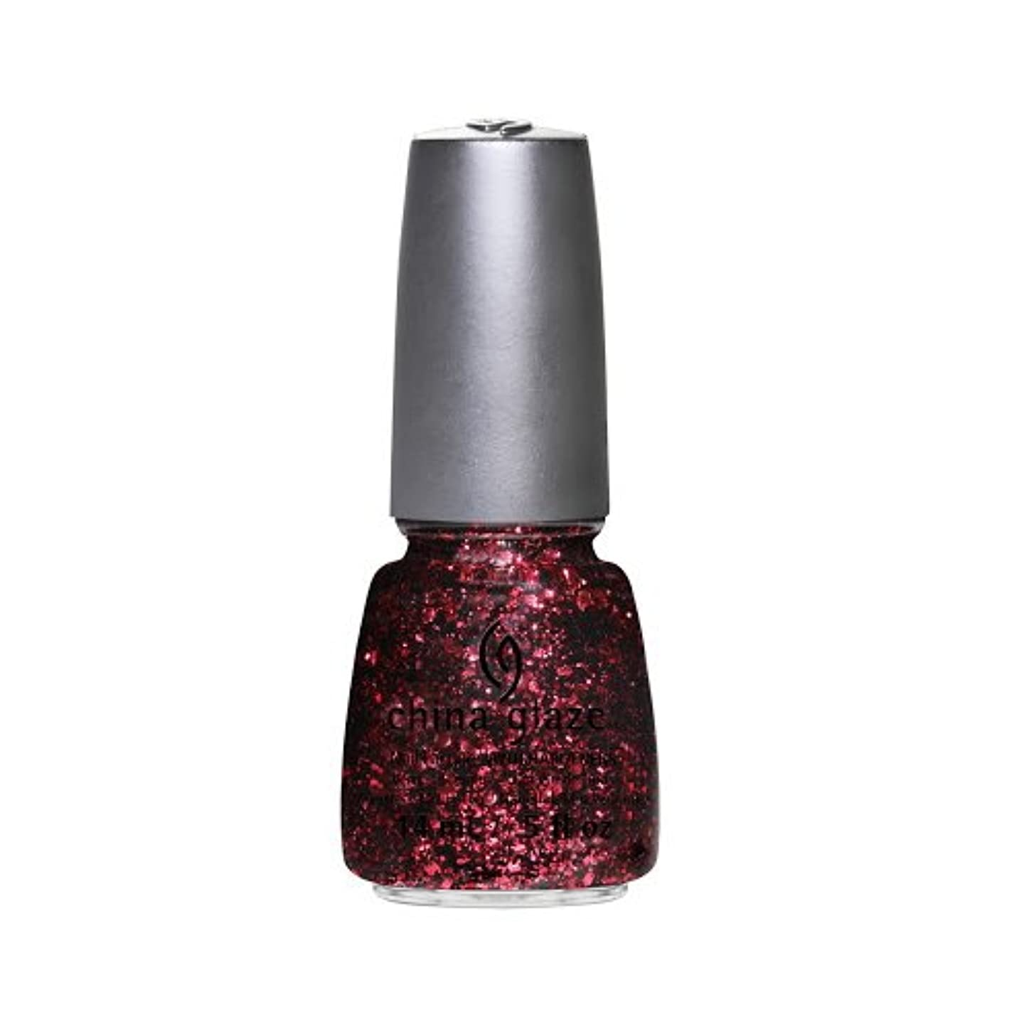 冷凍庫不器用ハイキングに行くCHINA GLAZE Nail Lacquer - Glitz Bitz ???n Pieces Collection - Scattered & Tattered (並行輸入品)