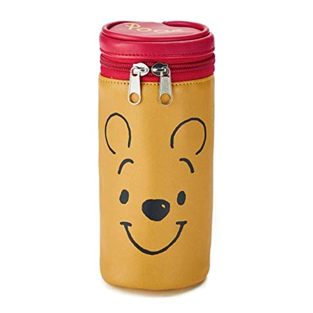 香港錆び投獄[ベルメゾン]ディズニー ポーチ 小物入れ 筒型マルチポーチ カラー くまのプーさん(イエロー)