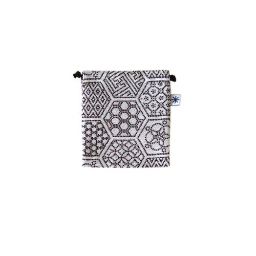 米織小紋・巾着袋(小) (亀甲つなぎ)