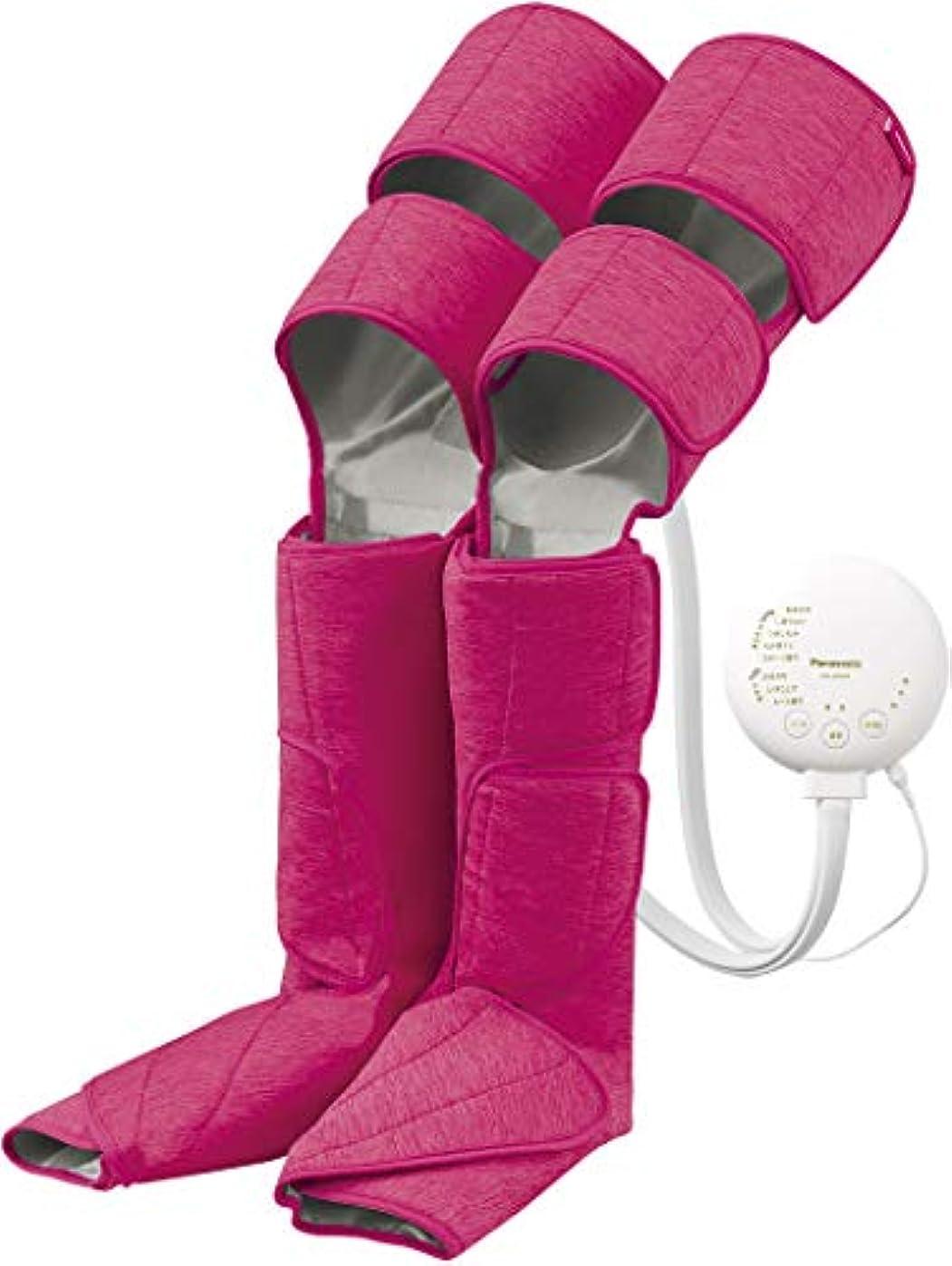 四回分泌するカフェパナソニック エアーマッサージャー レッグリフレ ひざ/太もも巻き対応 温感機能搭載 ピンク EW-CRA99-P