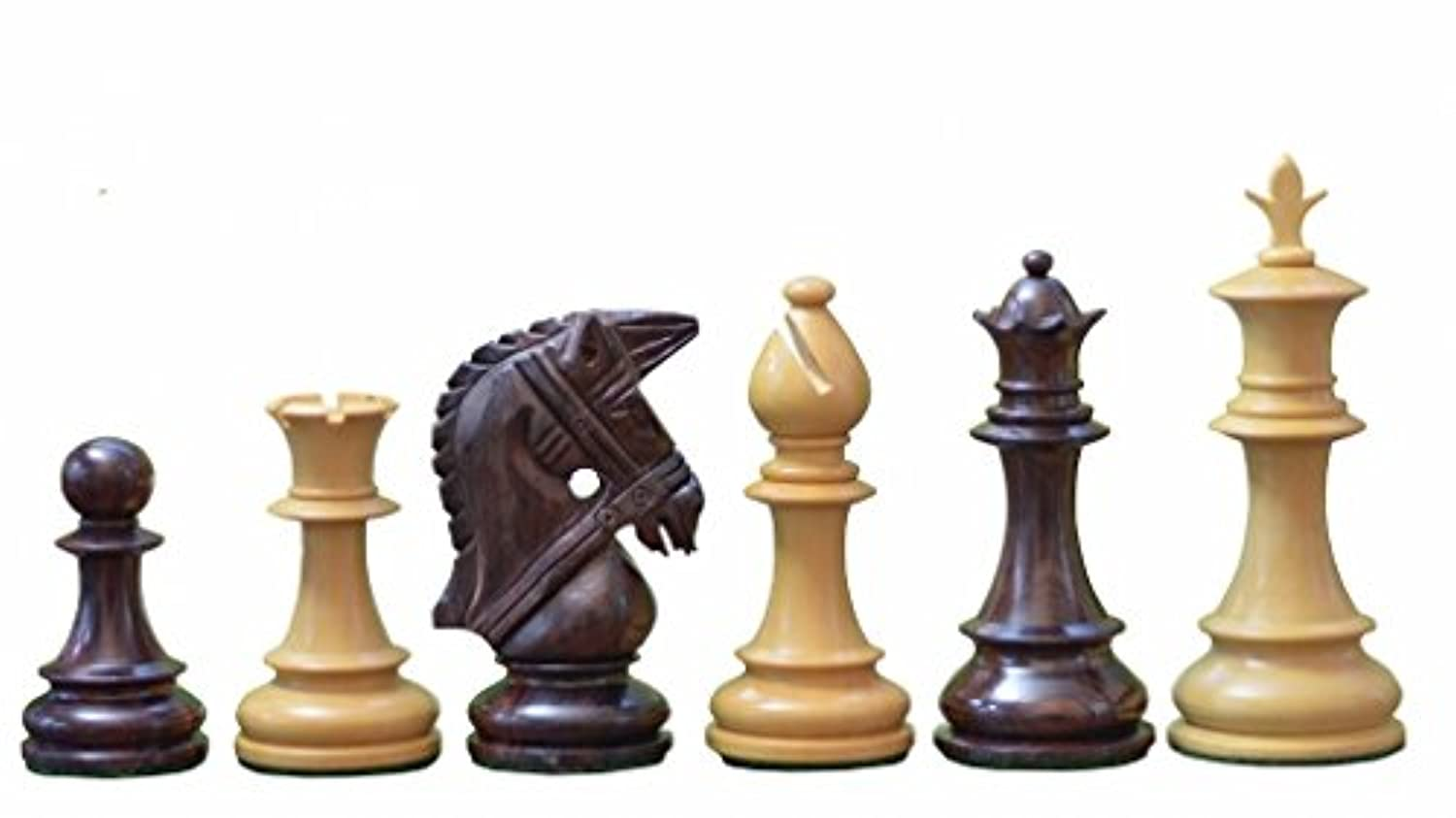 Chessbazaar The Bridle Series Wooden Chess Pieces In Rose & Box Wood