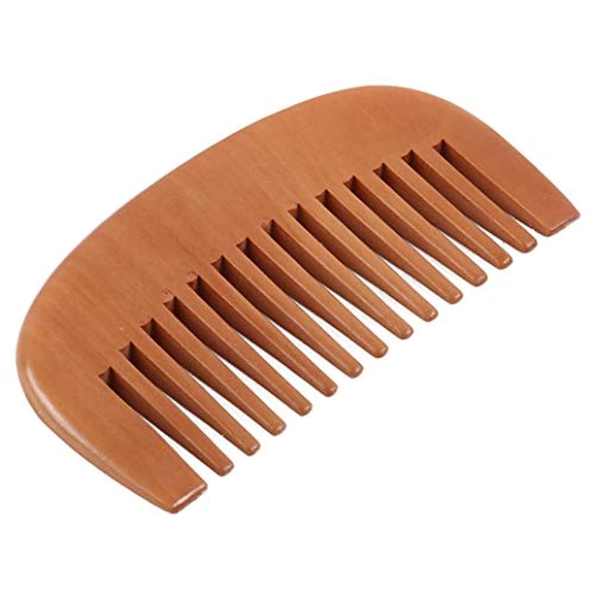 寝室を掃除する天文学東部GOMYIE 髪とあごひげ幅広歯サンダルウッドくし帯電防止ポケットサイズ木製くし男性と女性(ウッドカラー)