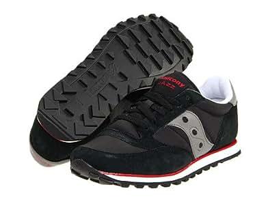 (サッカニー) SAUCONY メンズスニーカー・カジュアルシューズ・靴 Jazz Low Pro Black/Dark Gray/Red 10.5 28.5cm D - Medium [並行輸入品]