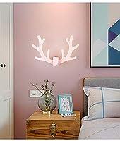 xuefan ヨーロッパ現代のシンプルな壁ライトアントラーウォールランプノベルティデスクランプベッドサイドベッドルーム通路階段創造性リビングルーム子供部屋(電球は含まれていません), Pink