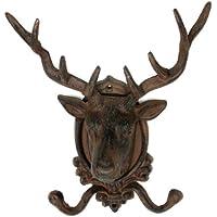 鹿の角 装飾 エルクヘッド 壁取り付け 装飾 フック 飾り トナカイ像 コート 鍵 帽子 ハンガー クリスマス ハンティング 装飾