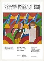 ポスター ハワード ホジキン Absent Friends The Tilsons Exhibition 額装品 ウッドベーシックフレーム(ホワイト)