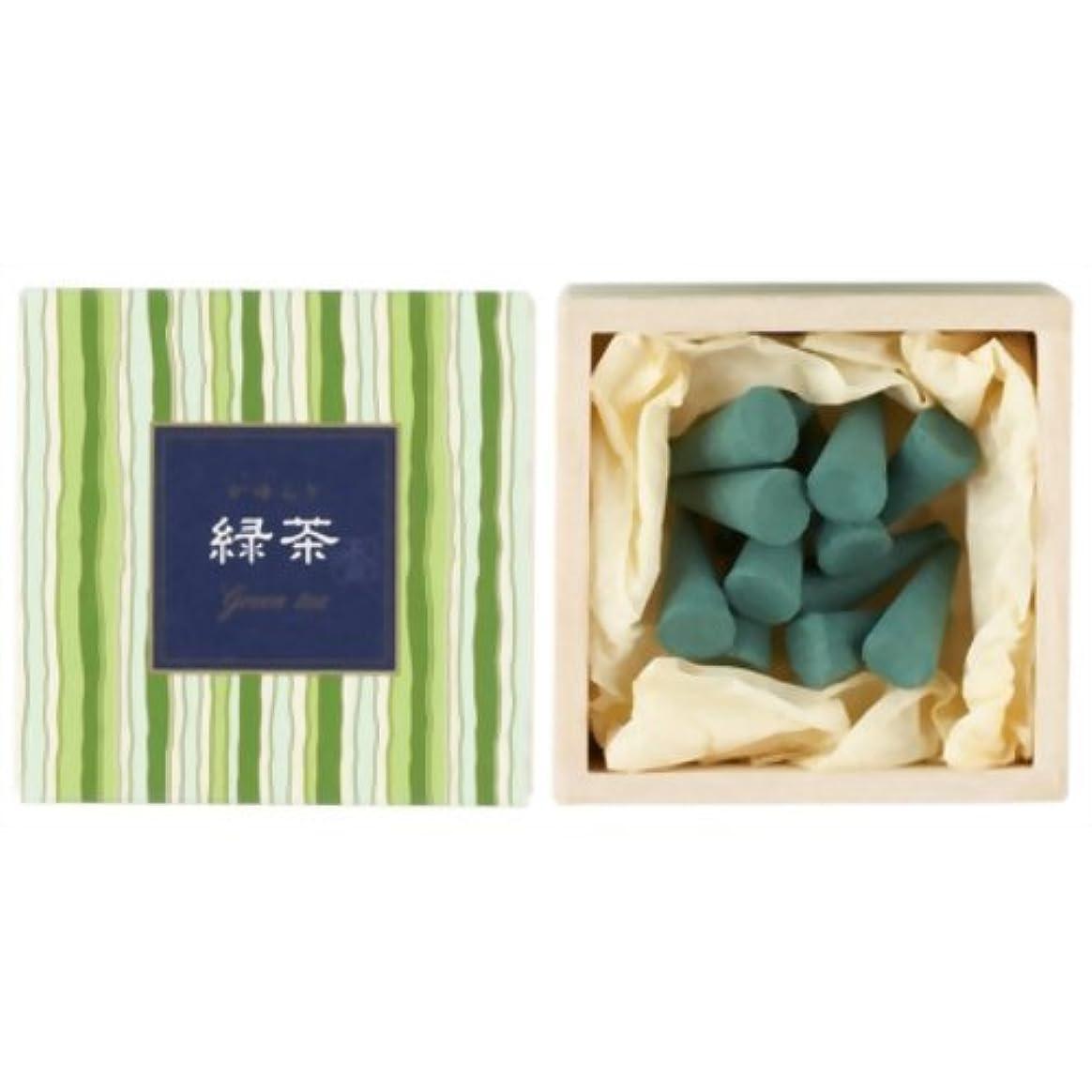 このボックス赤ちゃんかゆらぎ 緑茶 コーン12個入 香立付