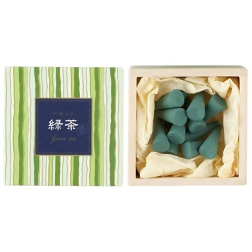 かゆらぎ 緑茶 コーン12個入 香立付