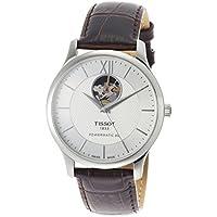 [ティソ]TISSOT 腕時計 トラディション オートマティック オープンハート パワーマティック80 ホワイト文字盤 レザー T0639071603800 メンズ 【正規輸入品】