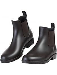 [銀の恋] レインブーツ レディース レインシューズ メンズ ショートブーツ サイドゴア カジュアル 軽量 快適 防水 耐滑 晴れの日も履きたい 梅雨 長靴 (22.0cm~26.5cm)