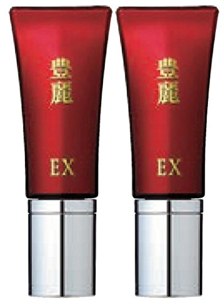 リテラシー無秩序マニアック豊麗EX 16g 2本セット TVショッピングで話題のハリ肌美容液