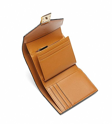 【エムシーエム】 MCM 小銭入れ三つ折りバックル財布コニャック Visetos Wallet cognac [並行輸入品]