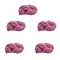 5かせ糸編み超ソフトかさばるのは、DIY の製織のための分厚い放浪,Rosepink